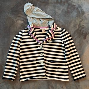 Cute and Comfy Striped Jacket with Hood. 3T.
